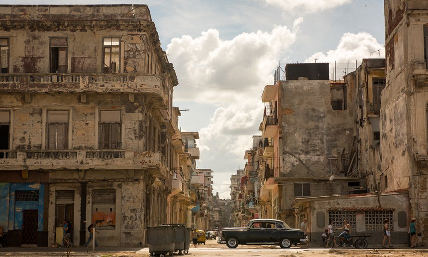 Crumbling city: as Havana's architecture has aged, so too have its public services. Photograph: Ken Cedeno/Corbis via Getty Images