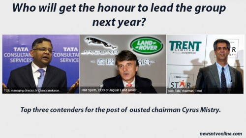 Top three contenders for the post of  ousted chairman Cyrus Mistry.