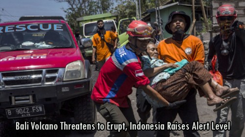 Bali Volcano Threatens to Erupt, Indonesia Raises Alert Level