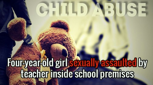 PT teacher sexually assaults a 4 years old student – Kolkata, India