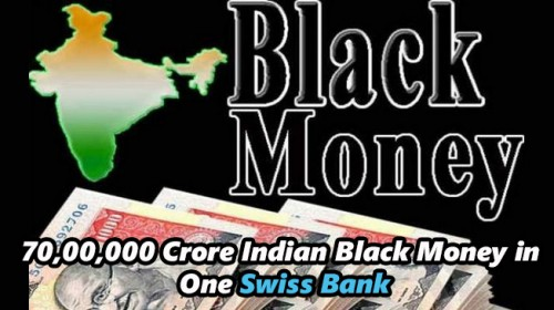 70,00,000 Crore Indian Black Money in One Swiss Bank